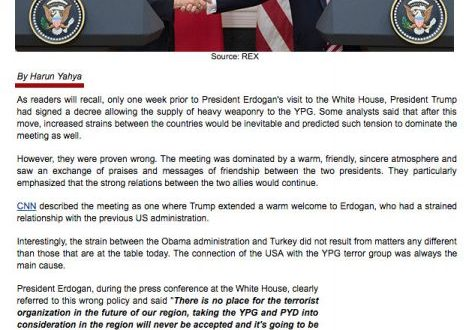 Erdogan-Trump Meeting, the Deep State and the Reality of YPG